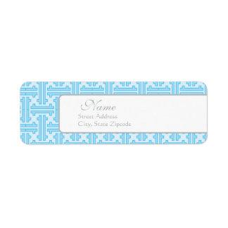 Etiqueta azul del remite etiqueta de remitente