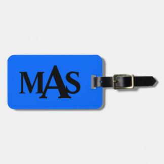 Etiqueta azul y negra personalizada del equipaje etiquetas maleta