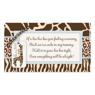 Etiqueta B del regalo del muchacho del safari Tarjetas De Visita