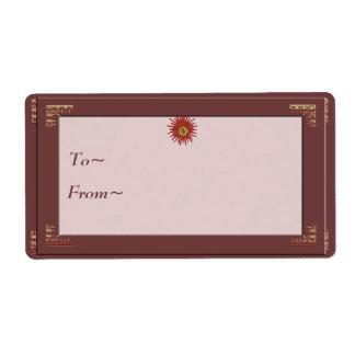 Etiqueta bendecida del regalo de Yule Etiquetas De Envío