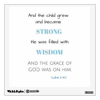 Etiqueta bíblica del cuarto de niños del bebé de vinilo