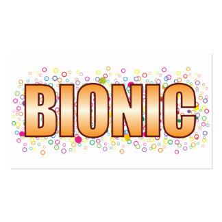 Etiqueta Bionic de la burbuja Tarjetas De Visita
