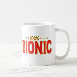 Etiqueta Bionic de la estrella Taza De Café