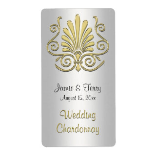 Etiqueta blanca 2 del vino del fiesta del damasco etiquetas de envío