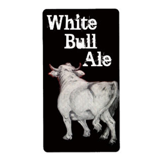 Etiqueta blanca de la botella del Brew de la Etiqueta De Envío