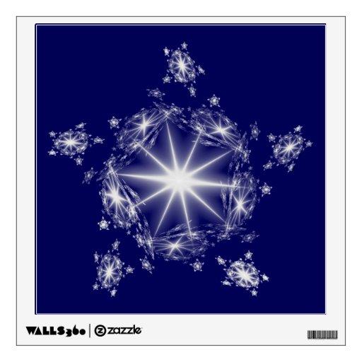 Etiqueta blanca de la pared de la estrella del fra