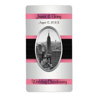 Etiqueta blanca del vino rosado del Empire State Etiqueta De Envío
