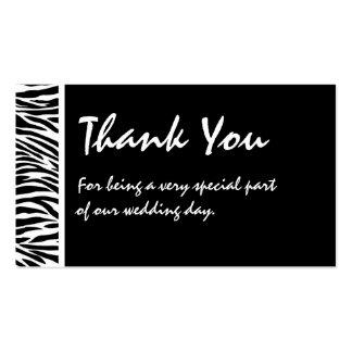 Etiqueta blanca negra del favor del boda de la tarjetas de visita
