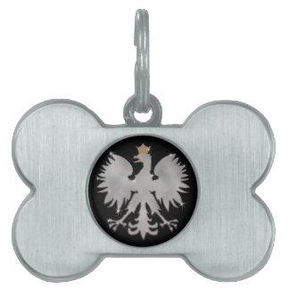 Etiqueta blanca polaca del hueso de perro de Eagle Placa De Mascota