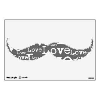 Etiqueta blanca y de plata de la pared del bigote  vinilo decorativo