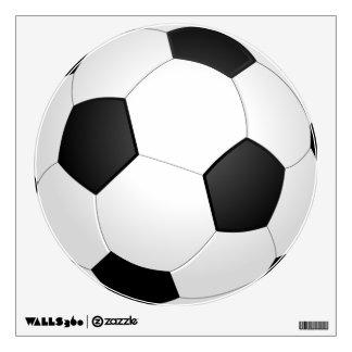 Etiqueta blanco y negro de la pared del balón de f