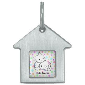 Etiqueta blanda del mascota de los gatitos placas de mascota