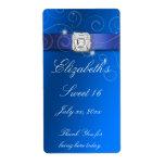 Etiqueta BlueWhite de la botella de agua del dulce Etiqueta De Envío