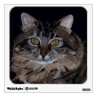 Etiqueta bonita de la pared del arte del gato del  vinilo adhesivo