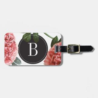 Etiqueta botánica del equipaje de la impresión el