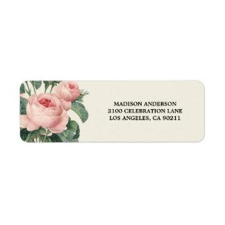 Etiqueta botánica del remite del encanto el   etiqueta de remitente