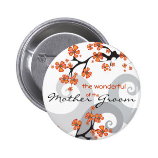 Etiqueta/botón tropicales del nombre del boda del  pins