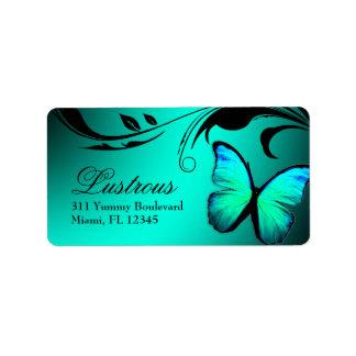 Etiqueta brillante de 311 azules turquesas de la m etiqueta de dirección