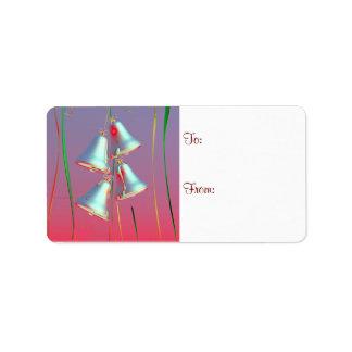 Etiqueta brillante del regalo de Belces de plata d Etiqueta De Dirección