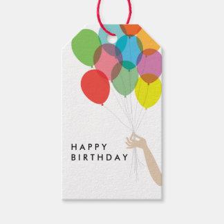 Etiqueta brillante del regalo del feliz cumpleaños