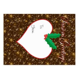 Etiqueta brillante del regalo del navidad de los s tarjeta de visita