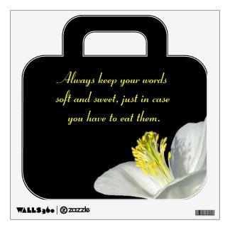 Etiqueta buena suave de la pared de las palabras vinilo adhesivo