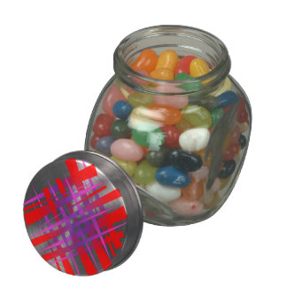 Etiqueta caótica del hachís frascos de cristal jelly belly