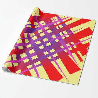 Etiqueta caótica del hachís papel de regalo