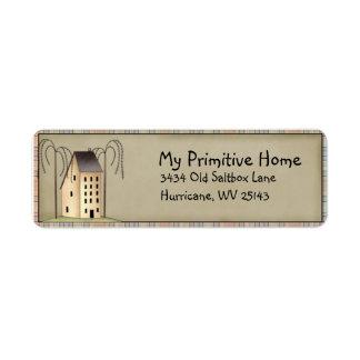 Etiqueta caprichosa del remite de la casa de etiqueta de remite