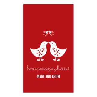 Etiqueta casada del regalo de vacaciones de los tarjetas de visita