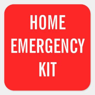 Etiqueta casera roja del equipo de la emergencia