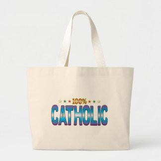 Etiqueta católica v2 de la estrella bolsa