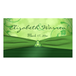Etiqueta céltica del favor del boda del nudo de am plantilla de tarjeta de visita