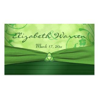Etiqueta céltica del favor del boda del nudo de tarjetas de visita