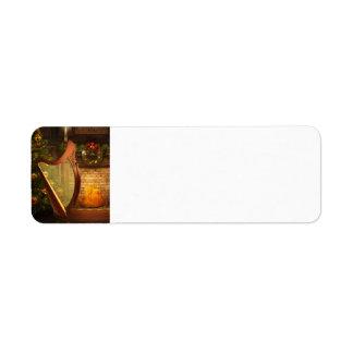 Etiqueta céltica del remite de la arpa etiquetas de remite