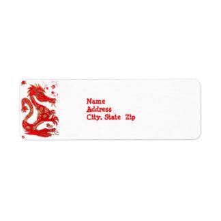 Etiqueta china de Avery de la astrología del dragó Etiquetas De Remite