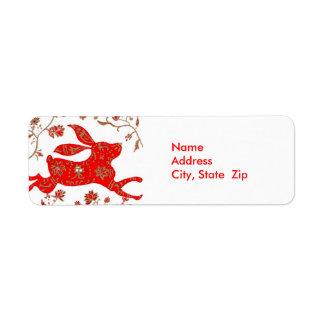 Etiqueta china de Avery de la astrología del Etiqueta De Remitente