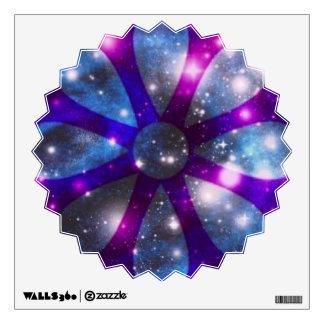 Etiqueta chispeante púrpura azul de la pared de la vinilo adhesivo