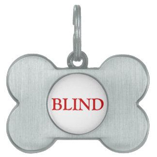 Etiqueta ciega del mascota - rojo placas de nombre de mascota