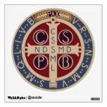 Etiqueta circular de la pared de la medalla de St.