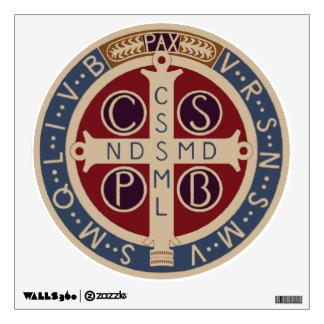 Etiqueta circular de la pared de la medalla de St. Vinilo Decorativo