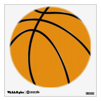 Etiqueta circular de la pared del baloncesto
