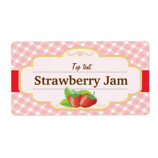 Etiqueta clásica de la fresa de la jalea del atasc etiqueta de envío