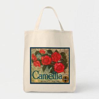 Etiqueta clásica del cajón de la fruta de los bolsa tela para la compra