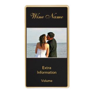 Etiqueta clásica del vino del negro del oro con be etiqueta de envío