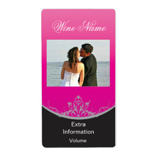 Etiqueta clásica del vino rosado con besos etiqueta de envío