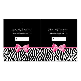Etiqueta colgante blanco y negro de moda del estam plantilla de tarjeta de visita