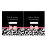Etiqueta colgante blanco y negro de moda del rosa  plantillas de tarjeta de negocio