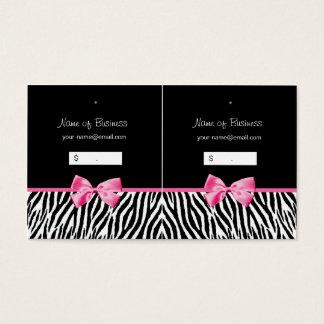 Etiqueta colgante blanco y negro de moda del tarjetas de visita