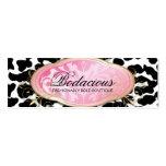 Etiqueta colgante Bodacious del leopardo del bouti Plantilla De Tarjeta De Negocio